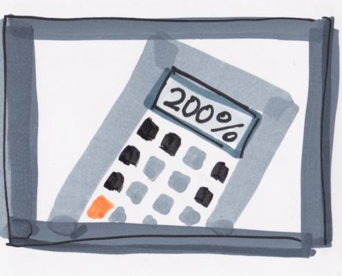 Taschenrechner 200 Prozent Leistung