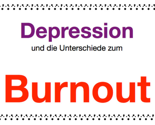 Unterschiede Depression Burnout