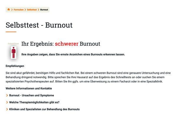 Selbsttest Burnout Beispiel Schön Klinik