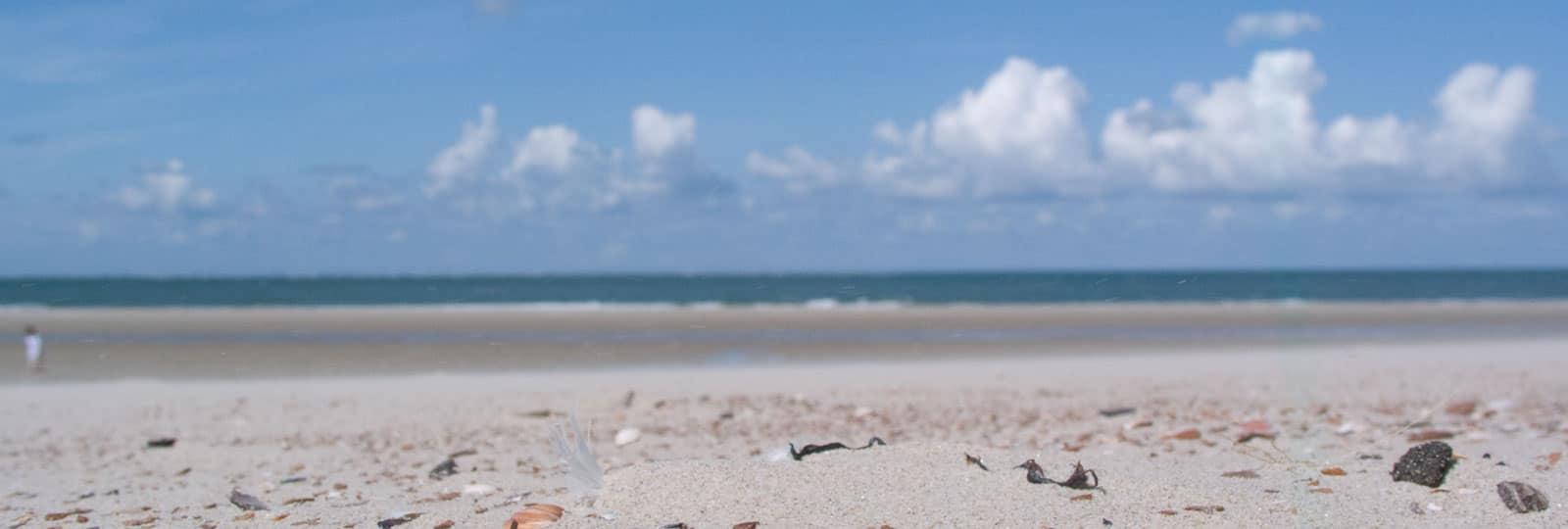 Strand Meer Wolken
